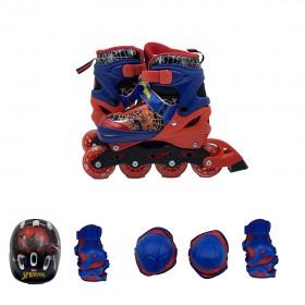Marvel Spiderman Mesuca Inline Skate Combo Set Size Euro 35-38