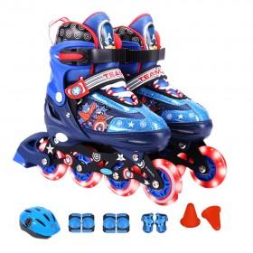 Mesuca Marvel Captain America Inline Skate Combo Set SIZE EURO 27-30