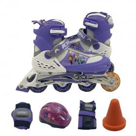 Skates Inline Set With Flash Wheel Kepai Angelia kids Size Euro 36-39