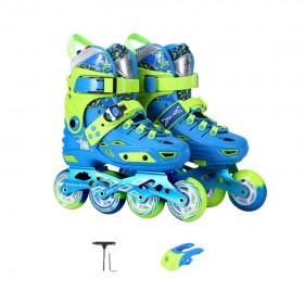 Jingjie Kids Skate Beginners Full Flash Set Roller Skating Size Euro 31-34