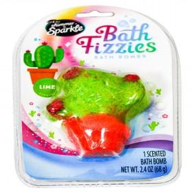 Shimmer N Sparkle - Bath Fizzies Bath Bombs Lime, Multi-Colour
