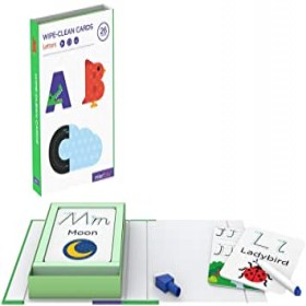 MierEdu Write and Wipe Activity Set - Letters