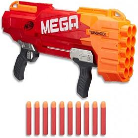 NERF Mega Twinshock Blaster Including 10 Official Official Darts