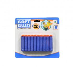 20 Pcs Soft Bullets Blue