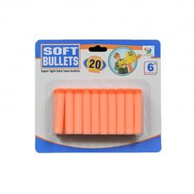 20 Pcs Soft Bullets Red