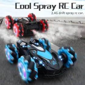 1:14 2.4G 4WD Remote Control Stunt Toy Car Cross Spray Deformation Twist Gesture Drift Vehicle