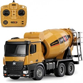 HUINA 1574 1:14 2.4G Concrete Mixer Engineering Truck Light Construction Vehicle Toys for Children