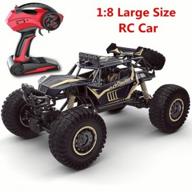 4WD RC Car Monster Truck Rock Crawlers Remote Control High Speed Off-Road Vehicle with Powerful Motor for Kids Adults Gift Toy