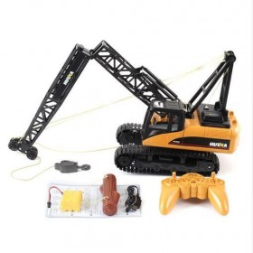 Huina RC Car Toys 1572 15CH RC Alloy Crane Engineering Trucks RTR Movable Latticed Boom Hawk Mechanical Sound RC Toy For Kids