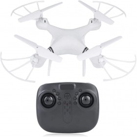 RC Drone, K3 Remote Control Drone with LED Cool Light, One Key Landing, Altitude Hold, Adjustable Speed, Suitable for Beginners(White)