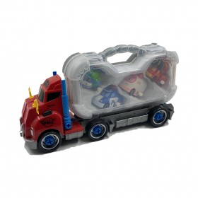 POLI PB883 DIY Musical & Slideshow Truck With Car Freedom Of Assembly Toys
