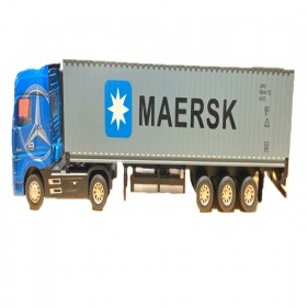 Alloy Engineering Vehicles Maersk Semi-mounted Container Cargo Logistics Truck for Kids Toys 3 Assorted Colors