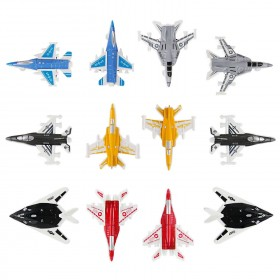 12 Piece Mini Diecast Metal Fighter Jets Air Force Set (1 Dozen)
