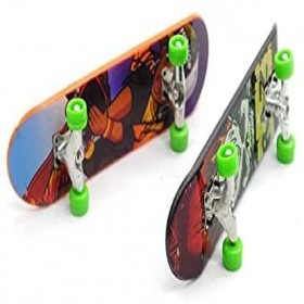 2pcs Mini Fingerboards Finger Skateboard Toy Fingertips Movement Party Favors Novelty Toys for Kids Birthday Party Toys Party Color