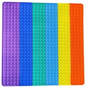 Fidget Push Pop it Square Rainbow Extra Large 50x50