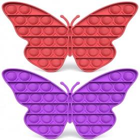 Pop it fidget toy butterfly shape light pink cheap Push Pop Pop Bubble Sensory Stress Relief Special Needs Silent Classroom simple dimple fidget toy