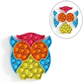 Owl Fidget Toys for Children Pack Simple Dimple Interactive Jigsaw Puzzle Game Desktop Sensory Pop Anti stress for Hands It Poppers