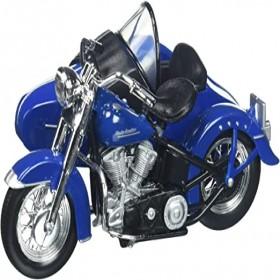 Maisto 1952 Harley Davidson Fl Hydra Glide With Side Car Blue Black Motorcycle Model 1/18 Diecast