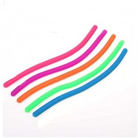 5Pcs Anti Stress Fidget Noodle Stretch/Pull/Twirl/Wrap/Squeeze Sensory Toy Kids Adult Party Favor Birthday Gift Pinata Filler
