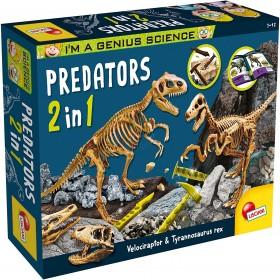 Lisciani Giochi- I'm a Genius Predators 2 in 1 Gioco Scientifico, 84630