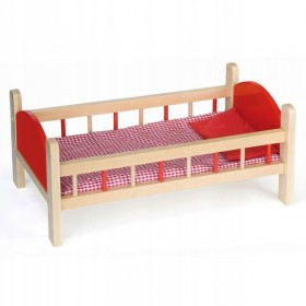 Wooden crib for dolls up to 55.5*31*23 cm