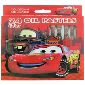 Crayon Colors – Oil Pastels (Cars Theme) – Pack of 24