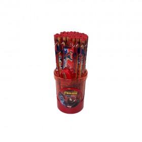 50 Pcs/Set Cartoon Spiderman wooden Pencil