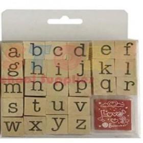 School & Office Supplies ✆Wooden Alphabet Stamp (w/ pad)
