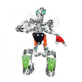 Metal Construction Toy Robot #1 220 Piece Building Set