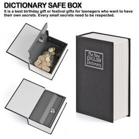 Dictionary Key Book Safe Lock Box Storage Piggy Bank Money Box
