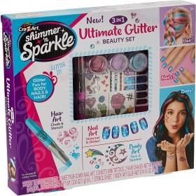SHIMMER N SPARKLE 3 N1 Ultimate Glitter Beauty Set, multi color, 65501