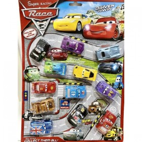 12 in 1 Disney Pixar Cars 3 McQueen Mater Jackson Storm Ramirez Model Toy Car Gift Mainan Kereta