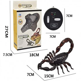 Remote Control Scorpion Model - Infrared RC Robot Educational Toy, Gift for Kids,Black