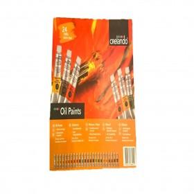 NEW OIL Paints Set by Crelando 24 x 18ml Colour Tubes + Free Gift + Postage