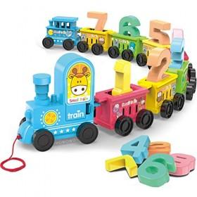 Webby digital number luggage toy train set- Multi color