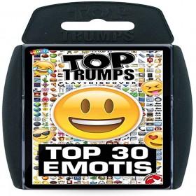 TOP TRUMPS TOP 30 EMOTIS PLAYING CARD