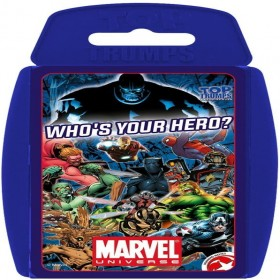 TOP TRUMPS MARVEL WHO IS YOUPLAYING CARD