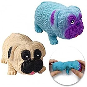 Squishy Fidget Sensory stress pug dog toys for Children Adults Teens kids, Decompression squishes Squeeze (Assorted Colors)