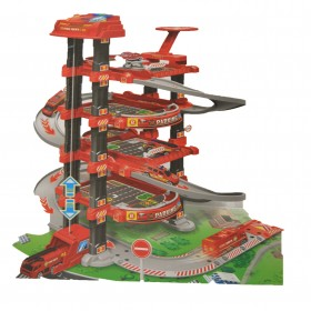 Toys Modern Level Cars and Helicopter Fire Rescue Station kids play set 79 PCS (Multicolor)