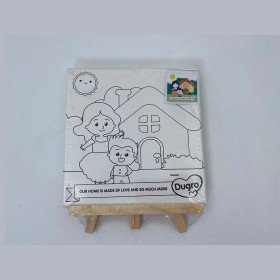 Kids canvas painting kit pre printed canvas to paint