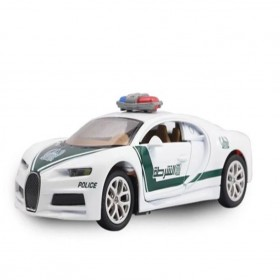 Bugatti Chiron Police Car Toy For Kids Scale Alloy Metal Sports Car Assorted Color