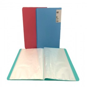 Display Book 40 Pockets A4 Size Assorted colors