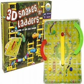 Snakes & Ladders Board Game Traditional Children Games