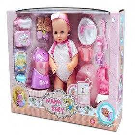 Plastic reborn newborn baby dolls play set