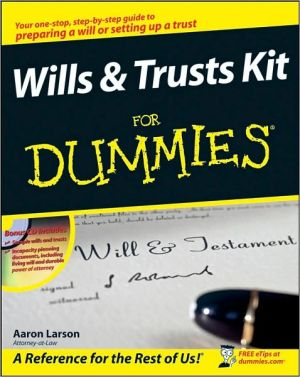 Wills and Trusts Kit For Dummies - Paperback, Contains Paperback and CD-ROM