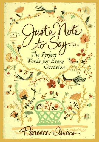 Just a Note to Say-- - Hardback